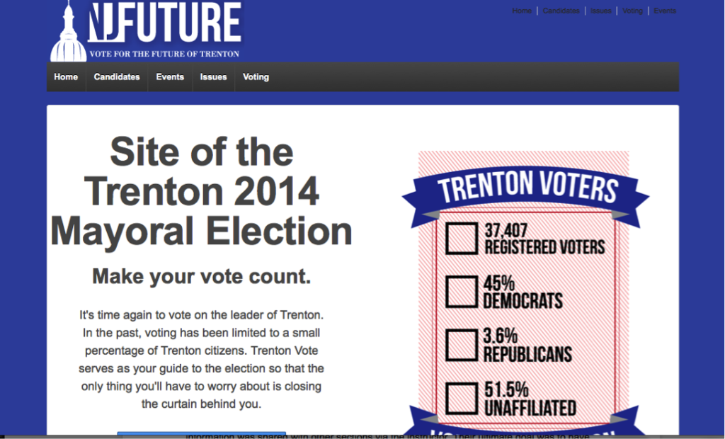 Site of the Trenton 2014 Mayoral Election