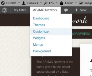 Customize site menu